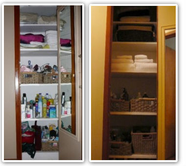home organizing before & after